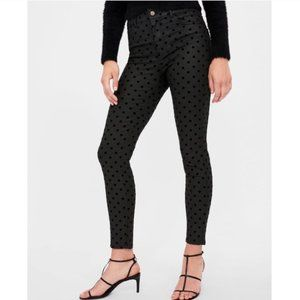 Zara Z1975 Waxed Finish Jeans w/ Polka Dots~6
